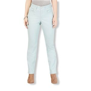 Style & Co Petite Tummy-Control Straight-Leg Jeans